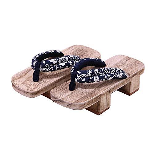 Fancy Pumpkin Japanische traditionelle Schuhe Cosplay Hausschuhe Holz Clog Geta Sandalen, K-01