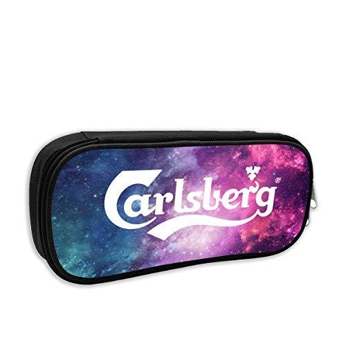 Carlsberg Bier Logo grote capaciteit Potlood Case Bureau Potlood Student Stationery Box Opbergtas Eén maat Zwart