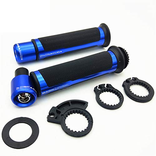 Empuñaduras De Motocicleta CNC De 7/8'22 / 24mm, Extremo De Manillar para Yama&ha V Star 1100 XT V-MAX Drag Star 400 Ybr 125 Piezas DT 125 Yz 250 (Color : Blue)