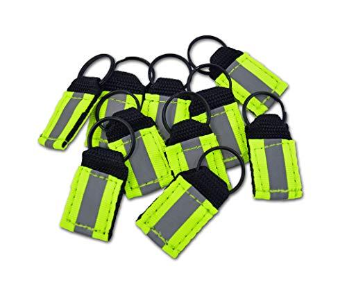 Lightning X Hi-Vis Reflective Balistic Nylon Webbing Zipper Pulls for EMT, Tactical, Safety Bags + Gear 10 pcs