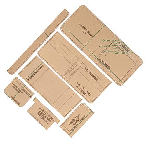Templete en cuir acrylique, outil de bricolage professionnel, modèle de portefeuille en acrylique, facile à utiliser pour les femmes portefeuille court Durable