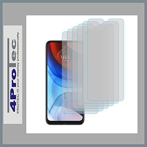 4ProTec   6X Display-Schutz-Folie KLAR für Motorola Moto E7i Power