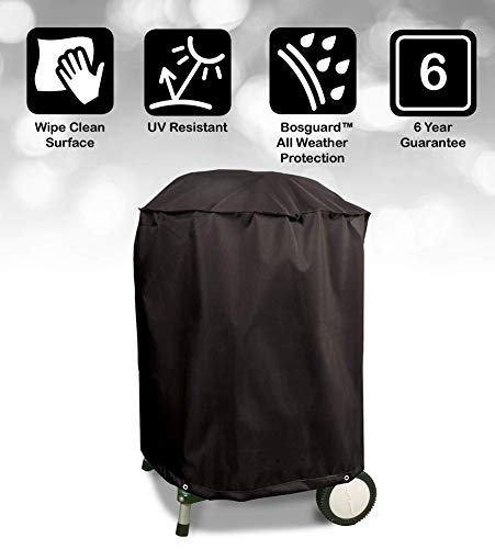 Bosmere Protector 6000 Storm Black Kettle BBQ Cover - Black, D700 1