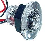 Aqua Signal 16412-7 LED Livewell Bulkhead and Accent Courtesy Light - 1.5'' Round, White, Single led