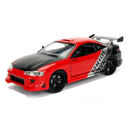 Jada 1:24 JDM Tuners Die-Cast 1995 Mitsubishi Eclipse Car Glossy RedModel Collection