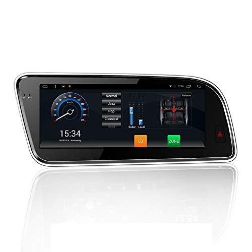 Android 9.0 Del Coche De Radio Estéreo, Reproductores De DVD Con 2Din 8.8 Pulgadas De Alta Definición De Pantalla Táctil De Navegación GPS Para Audi Q5 Wifi/Bluetooth/AUX/TF/Smart Voz