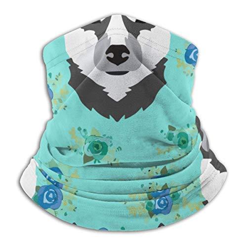 ShiHaiYunBai Braga Cuello Moto Calentador de Cuello Deporte Calentador Pasamontañas Polar Multifuncional Máscara Husky Floral Men Women Face Masks Headwear Neck Warmer Windproof Mask