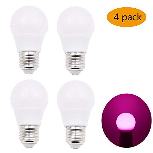 Set van 4 3W UV Roze gloeilampen, E27 UV-lampen, zwart licht, gloeilamp, roze, lichtgloeilamp, geschikt voor club, feestjes, bar, enz.