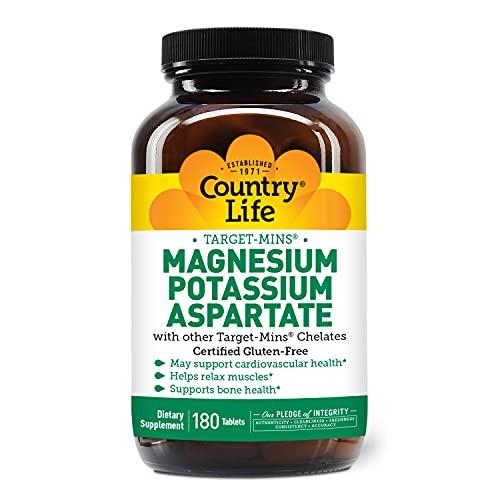 Country Life Target-Mins Magnesium Potassium Aspartate - 180 Tablets -...