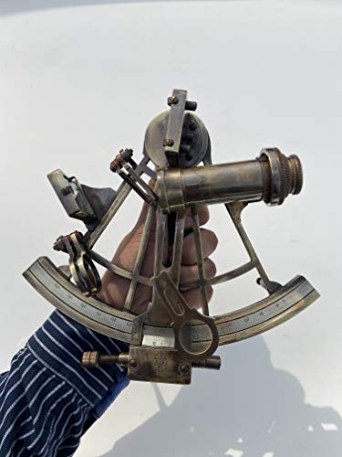 Malla Nautical Original Sextant 8' Marine Sextant | Astrolabe Ship Instrument | Riproduzione Nautica Vintage Sextant |