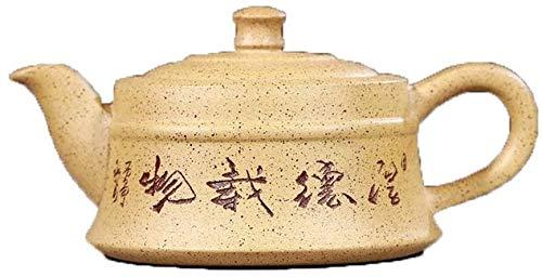 HIZLJJ Tetera Tetera Regalo-Tetera de Barro Mineral Segmento Tetera de té Conjunto Houdezaiwu Manual con Herramienta Manual de la Tetera (Color: Duan Barro)