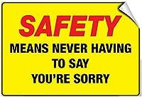 おもしろいビンテージメタルウォールティンサイン、安全性は申し訳ありませんと言う必要はありません-Style2847レトロなメタルサインヴィンテージバーパブカフェヴィンテージメタルサイン