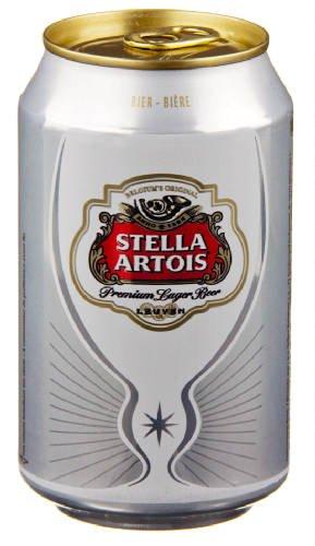 24 x 33cl Original belgisches Bier - STELLA ARTOIS PILS in der Dose.