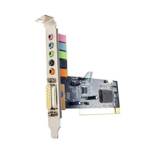 dtc - Scheda Audio Interno PCI 5.1 Canali con Porta Com