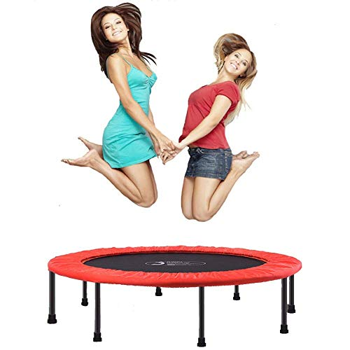 Adult Fitness Trampoline,Foldable Trampoline with Foldable Armrests,the Most Suitable Aerobic Fitness Equipment for The Gym or Fa(Rebounder Trampoline) Fitness