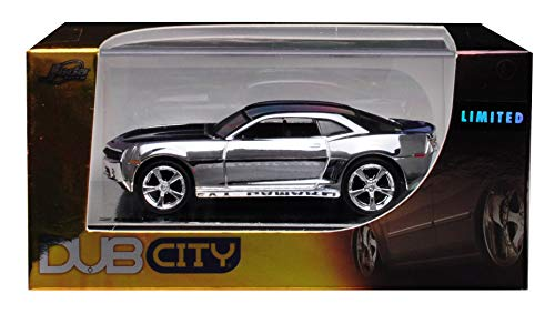 2006 Chevrolet Camaro Concept Chrome Silver Dub City Limited Edition 1/64 Diecast Model Car by Jada 91309