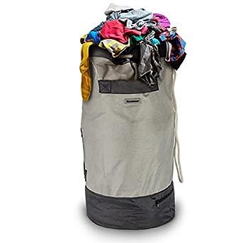 Brookstone BKH1281 Laundry Duffle Backpack/Gray
