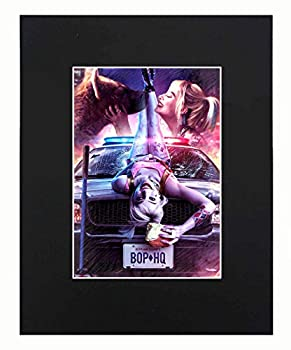 XQArtStudio Harley Quinn Birds of Prey Sexy Dope Cool Art Portrait Movie Art Artworks Print Picture Photograph Poster Decor Display Size with Matted 8x10