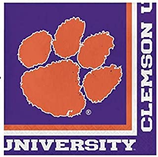 Clemson Tigers Lunch Napkins, 60 Count