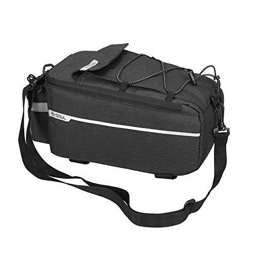 TTAototech, borsa portaoggetti posteriore per bicicletta, impermeabile, riflettente, per mountain bike e mountain bike con tracolla