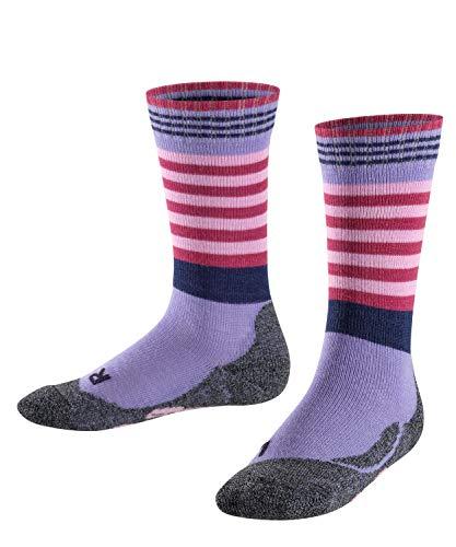 FALKE Kinder Socken Frog, Wollmischung, 1 Paar, Violett (Fingerhut 6996), Größe: 35-38