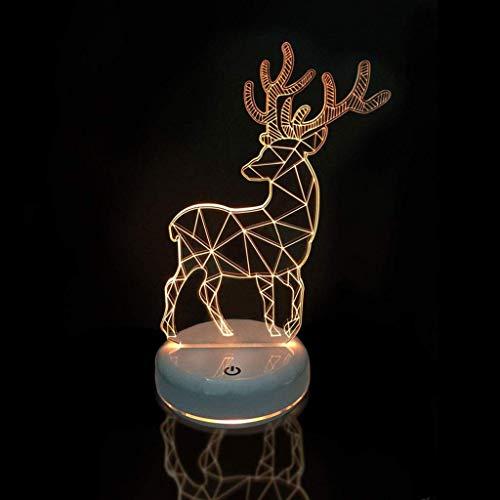 Lámpara de juguete Nightlight 3D Dormitorio Decoración Lámpara de ilusión 3d colorido DIRIGIÓ Luces de luces estéreo visuales Lámpara de mesa personalizada Luces de regalo romántico DIRIGIÓ ilusión no