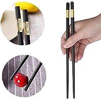 天然竹の箸 10組のガラス繊維の箸、日本の箸の再利用可能な合金の箸、滑り止め品質寿司箸 食器洗い機で掃除することができます (Color : 24 Cm)