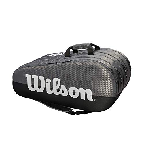Wilson Team 3 Comp, Tennis Bag Unisex-Adult, Grey, 15 rackets