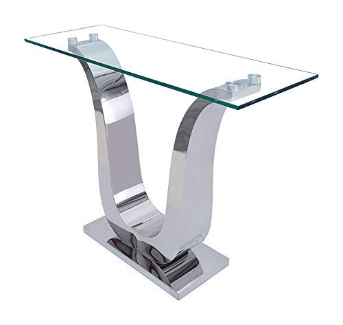 MODERN FURNITURE DIRECT Alexandria Chrome and Glass Console Table