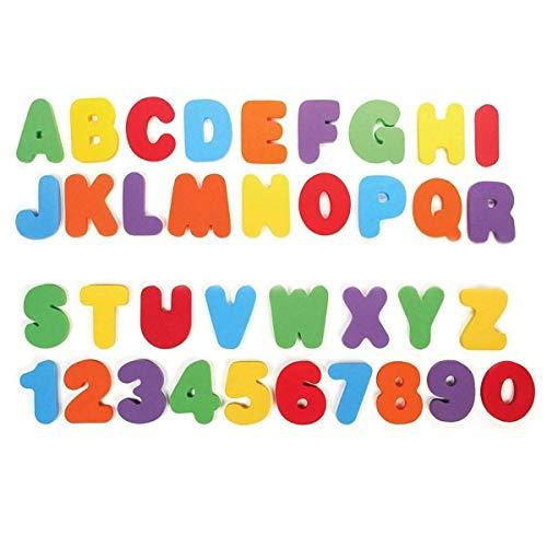 N/H Bad Letters Nummers, gemengde kleuren Foam Badkuip Tool 32st