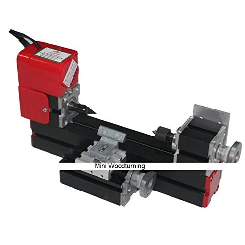 Buy Bargain Metal Mini Woodturning Wood Lathe Machinery DIY Model Woodworking Power Tools