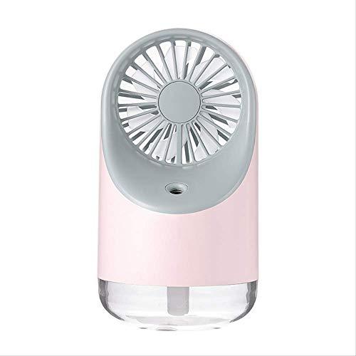 BEECM USB Lüfter Desktop USB Lüfter Luftbefeuchter Kleines Nachtlicht Tragbarer Mini Lüfter