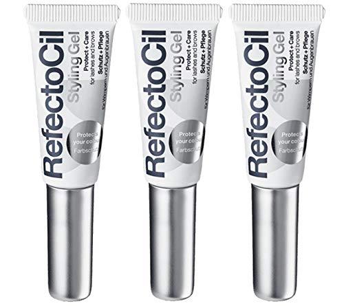 3er und Pflege Styling Gel Refectocil für Wimpern und Augenbrauenfarbe 9 ml