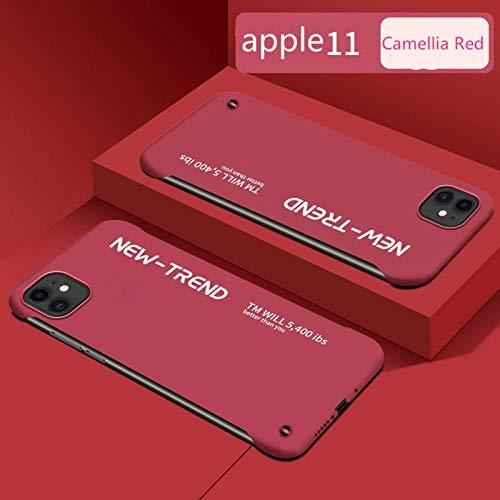 Aplicable al iPhone11pro ultradelgado de la serie Apple de fundas para teléfonos móviles Apple 11 sin bordes y modelos 12prmax anticaída y a prueba de explosiones