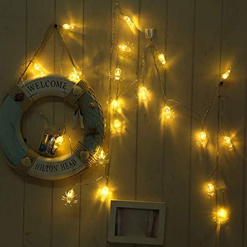 Angel's Pride Halloween Led-lichtsnoer, 20 spinnen/decoratieve verlichting voor binnen en buiten, feest- en barsieraden