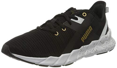 PUMA Damen Weave XT Metal WN's Sneaker, Black-Metallic Gold, 41 EU