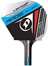 Dunlop Rage Pulsar Table Tennis Racket, Red/Black