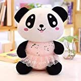 qingbaobao Lovely Panda Plush Toy, Soft Cartoon Animal Panda Bear Stuffed Doll, Juguetes...