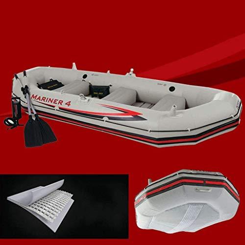 HFJKD zwembad, professionele opblaasbare boot voor 4 personen om aluminium peddels en handmatige luchtpomp met hoge output te sturen 328 * 145 * 48CM