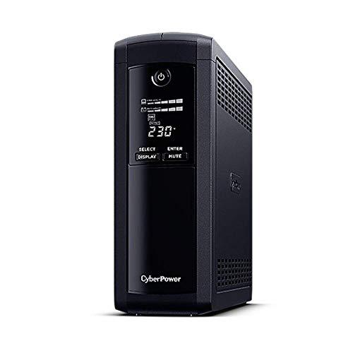 CyberPower - Gruppi di continuità ValuePRO, 1200 VA/720 W, 5 prese Schuko VP1200ELCD