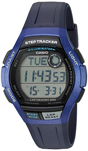 Casio Men's Step Tracker Quartz Sport Watch with Resin Strap, Blue, 19.4 (Model: WS-2000H-2AVCF)