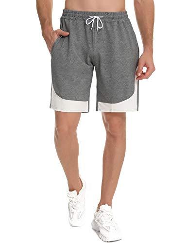 Doaraha Pantalones Cortos Deportivos Hombre Algodón Ropa de Dormir Pantalón Corto Casual...