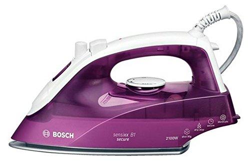 Bosch TDA2630 Dampfbügeleisen Sensixx B1 Secure (2100 Watt max., Dampfstoß 80 g/min., Dampfleistung 25 g/min.) weiß/deep berry