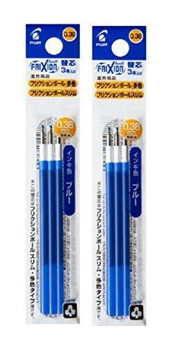 パイロット フリクションボール多色/スリム用 0.38mm替芯 3本セット ブルー LFBTRF30UF3L 2個組み