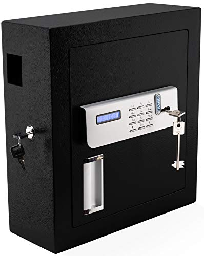 Viking Security Safe VS-51KS Digital Key Cabinet Digital Key Safe with Lockable Drop Slot 51 Key Capacity