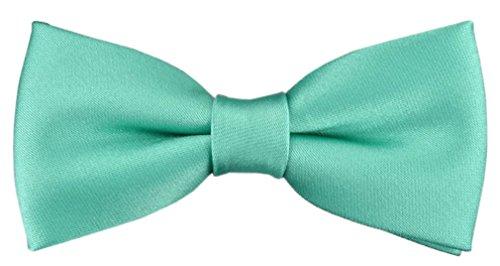 TigerTie Pajarita bebé en en verde menta con banda elástica 29 a 40 cm extensa cuello ajustable + caja