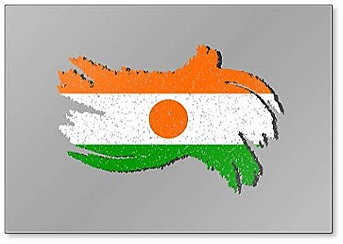 Niger Grunge Flagge, Niger Flagge, mit Shadow Illustration, Kühlschrankmagnet