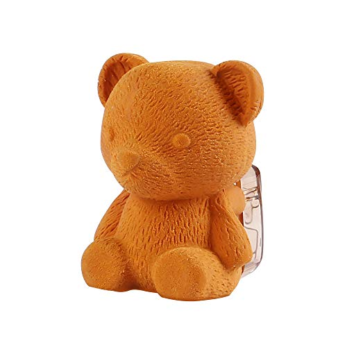 Eagle Manual Pencil Sharpener and Eraser,Cute BearShape,forStandard6-8 mmPencils,Perfect forKids, Pack of 1 (Brown)