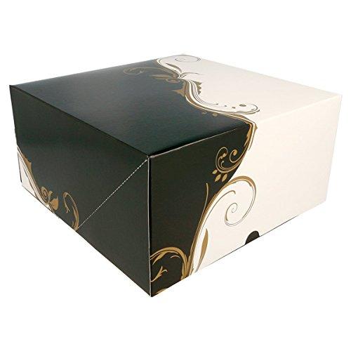 Garcia de pou 204.66 boîtes pâtisseries sans fenêtre 275 g/m2, 24 x 24 x 12 cm, set de 50, Blanc