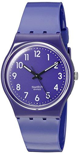 Swatch GV121 - Reloj unisex de cuarzo, correa de caucho color azul